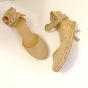 Gap Beige Ankle Strap Espadrille size 9